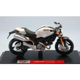 Ducati Monster 696 White Pearl Moto by Maisto