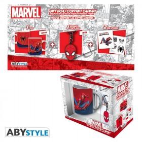 """MARVEL - Pck Mug320ml + Keyring + Sticker """"Spider-man"""""""
