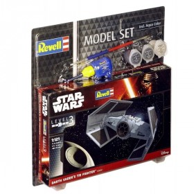 Dath Vader TIE Fighter with cement and brush