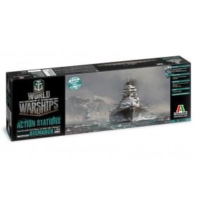 World of warships Bismark Italeri