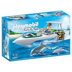 Sub con motoscafo e delfini Playmobil