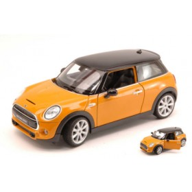 New Mini Cooper Hatch 2014 Ochre W/ Black Roof by Welly