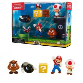 NINTENDO - Assortiment 5 Mario World Classic figures x1