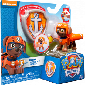 Paw Patrol Zuma action pack pup & budge Spin Master