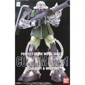 Perfect Grade MS-06 Zaku II Custom Set Clear Body 6 weapons