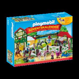 Calendario dell'avvento una giornata al maneggio Playmobil