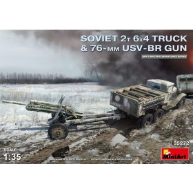 Soviet 2T 6x4 Truck with 76 mm USV-BR Gun