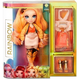 Rainbow High Surprise Poppy Rowan – Orange Fashion Doll with 2 Outfits