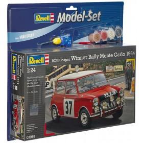 Model set Mini Cooper Winner Rally Monte Revell