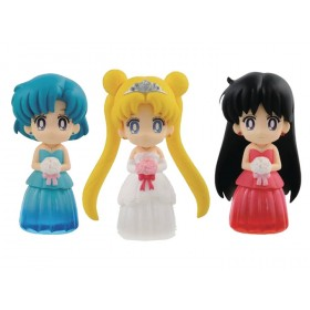 Sailor Moon Clear Colored Sparkle Dress Collection Vol 1 Figure collection set 3