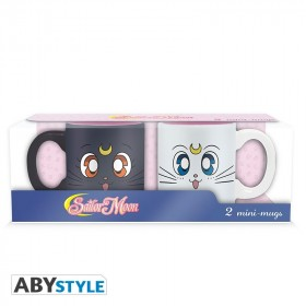 SAILOR MOON - Set 2 espresso mugs - 110 ml - Luna & Artemis