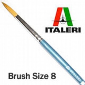 Italeri Size 8 Synthetic Round Brush