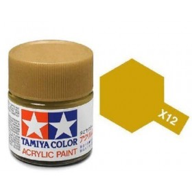 Tamiya Color Acrylic Paint (Gloss) – Colori lucidi. X-12 Gold Leaf