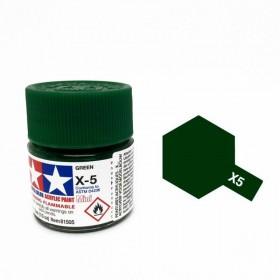 Tamiya Color Acrylic Paint (Gloss) – Colori lucidi. Mini X-5 Green