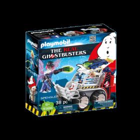 The Real Ghostbuster Sprengler con veicolo acchiappafantasmi