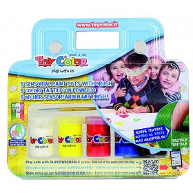 Toy color set 5 colori tattili con pennello