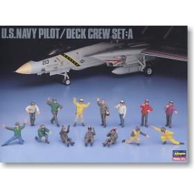 U.S. Navy Pilot / Deck Crew Set A by Hasegawa
