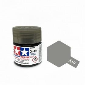 X-19 Smoke. Tamiya Color Acrylic Paint (Gloss) – Colori lucidi
