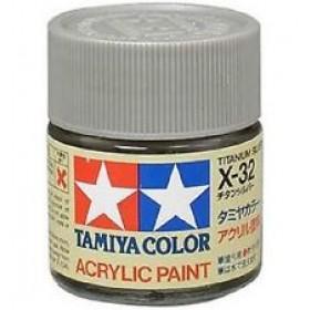 X-32 Titanium Silver. Tamiya Color Acrylic Paint (Gloss) – Colori lucidi