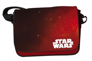 Star Wars EP7 Logo Red Back mailbag with flap