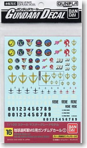 Gundam decal MG multi federation
