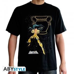 T-Shirt Saint Seiya Aquarius Man Black M